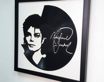 Michael Jackson Wall Art - Vinyl LP Record  Framed -Great Rock'n'Roll Gift