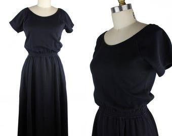 Vintage Bill Blass Black Knit Short Sleeve Dress