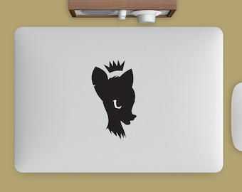 Bambi Queen decal for your macbook, ipad, fridge, windows, car, or everywhere you can stick it !