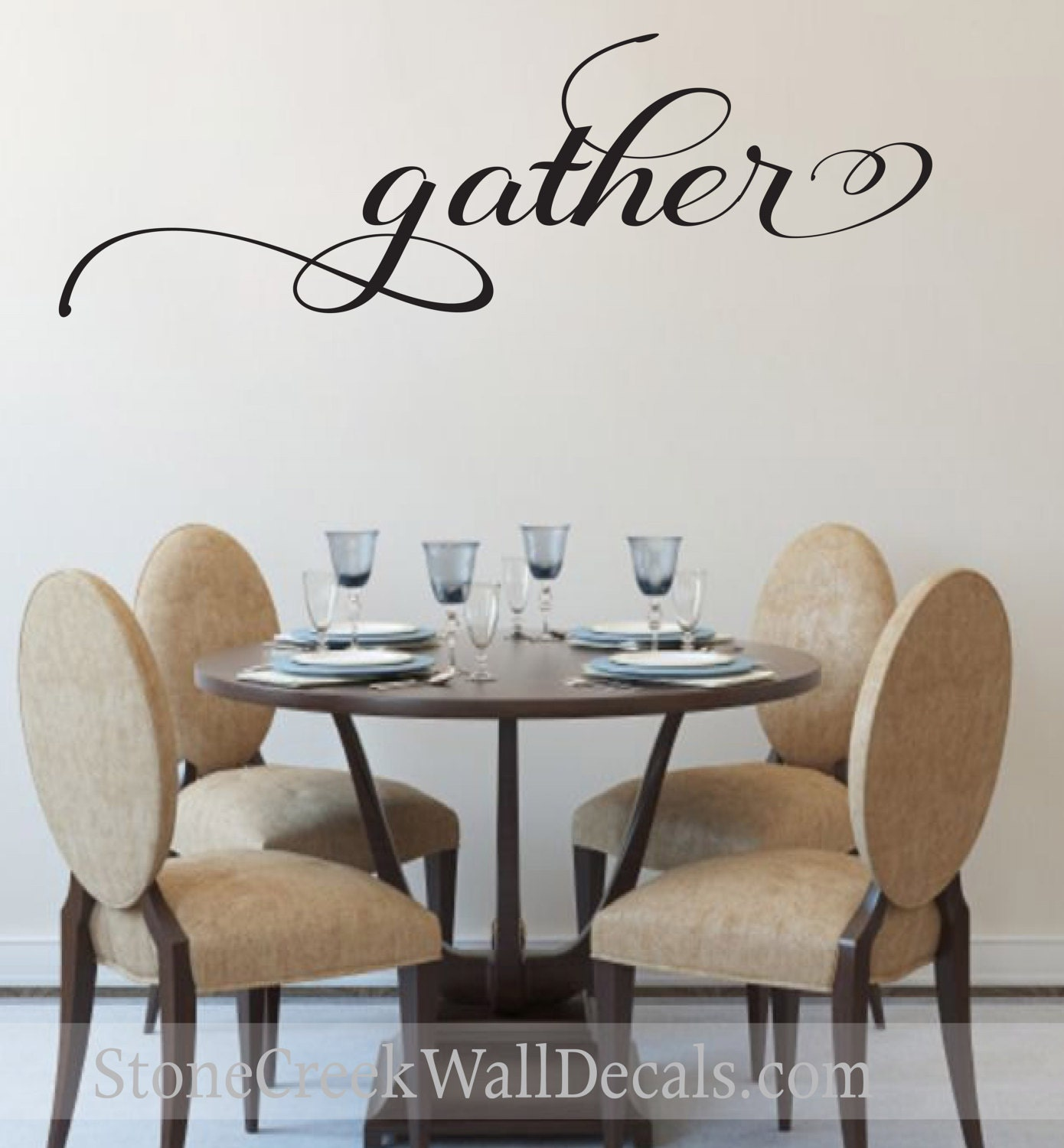 gather wall decal living room dining room family decor