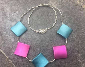 Plastic Pink and Blue necklace