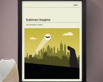 Batman Begins Movie Poster - Movie Poster, Movie Print, Film Poster, Film Poster