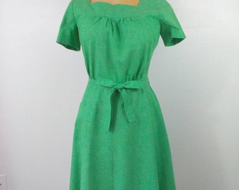 GREEN WITH ENVY Vintage Rockabilly Pinup Girl Dress St. Patricks Day Dress