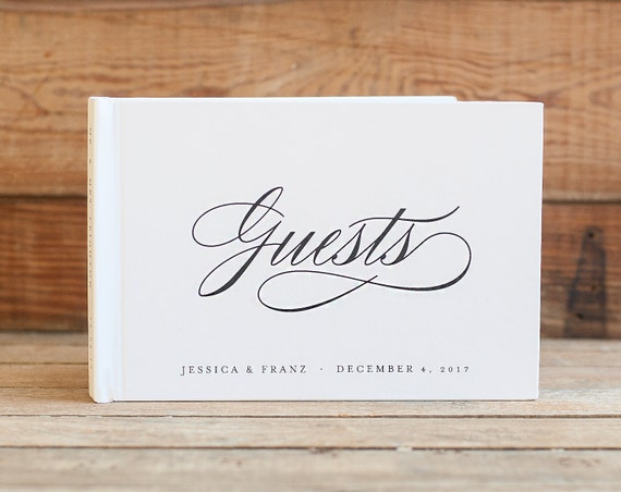 Wedding Guest Book landscape Guestbook horizontal wedding book wedding guestbook photo guest book guest sign in book custom wedding book