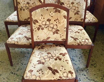 Mid Century Modern Set Of Six Solid Walnut Dining Chairs By Brown Saltman