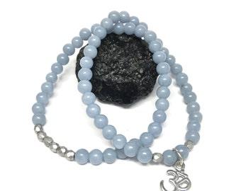 Angelite Stretch Bracelet Set