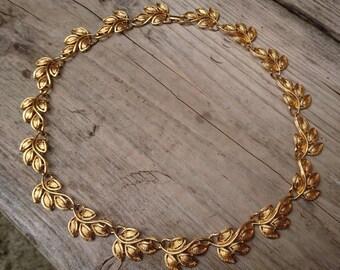 Vintage Napier leaf design necklace