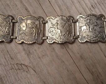 Vintage Don Quixote panel bracelet