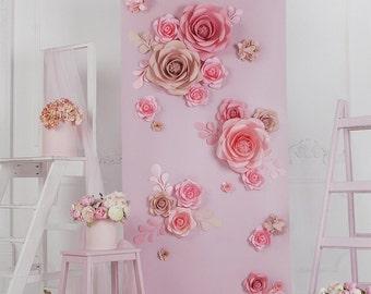 Giant Paper Flowers Wall Flower Wedding