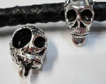 Tierracast Skull Bail, Antique Silver Charm Holders