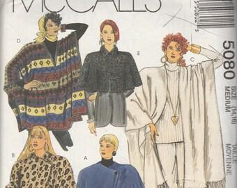McCall's 5080 Misses' Cocoon Jacket, Caplet and Ponchos  Size (14,16)  UNCUT