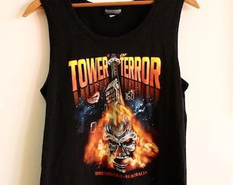 "Vintage ""Warner Brothers Movie World-  Tower of Terror"" Print Tank"