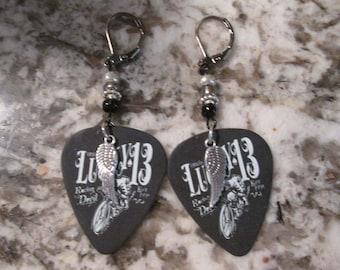 Dunlop Lucky 13 Tortex Skull Guitar Pick Earrings