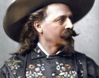 Old West Buffalo Bill, American Civil War soldier and western showman. 1889