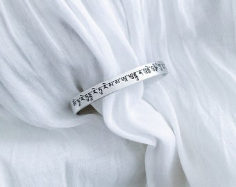 Spring season| Silver bracelet with the mantra