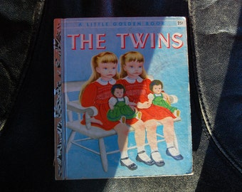 "The Twins A Little Golden Book ""A"" Edition #227 1955 Ruth and Harold Shane Pictures by Eloise Wilkin"