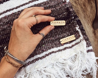 Custom WOODEN TAGS or LABELS for garment & product branding