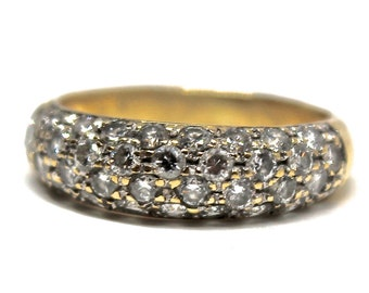 14k Yellow Gold Estate Diamond Ring 0.72ctw,  SPECIAL PRICE! Wedding Band Vintage