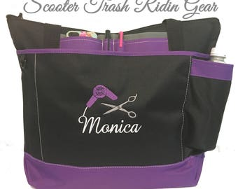 Free Shipping - Personalized Cosmetologist Tote Bag  - More Colors - monogrammed - New Cosmetology Hair Dresser