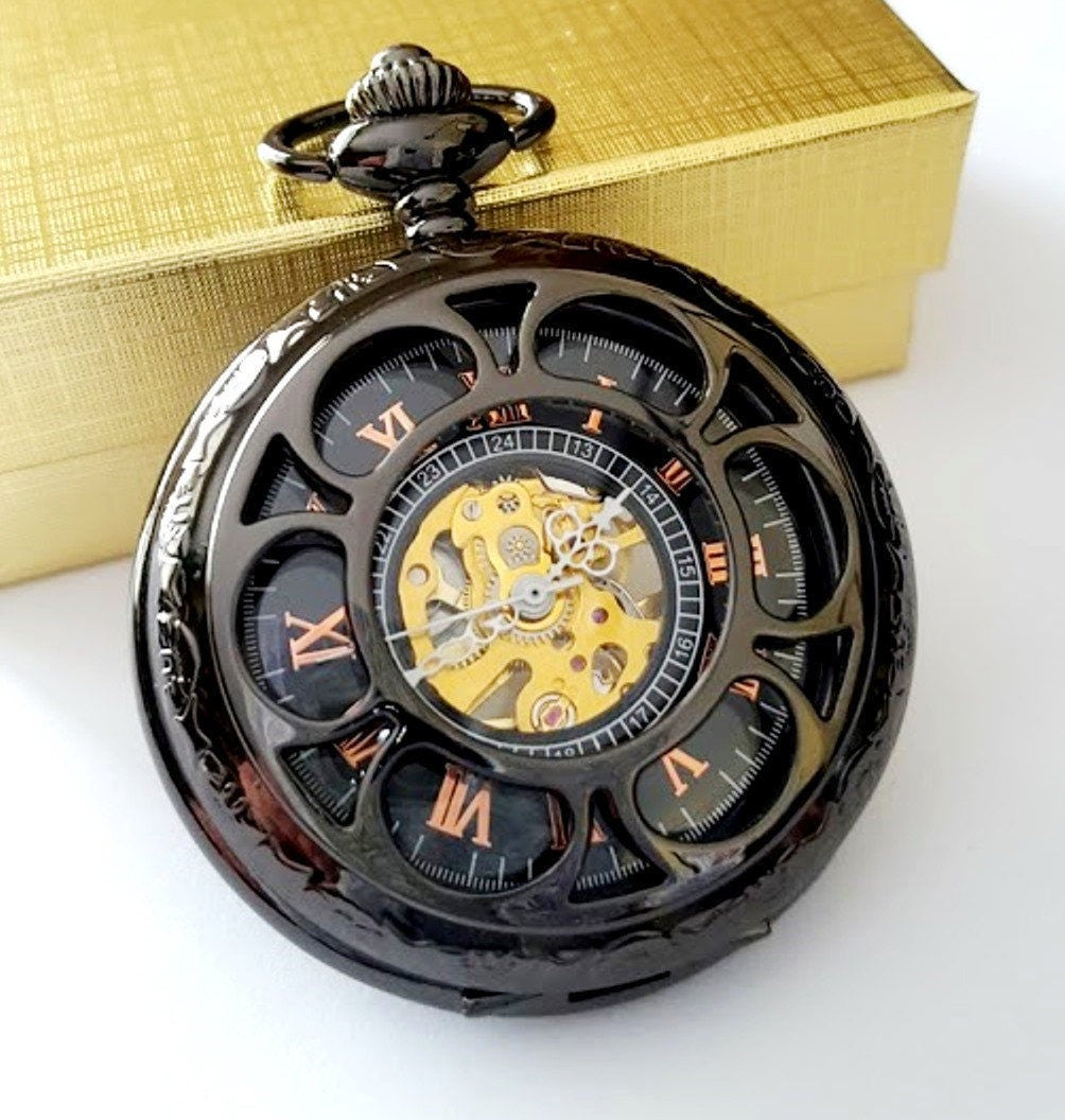 black pocket personalised groomsmen gift engraved pocket