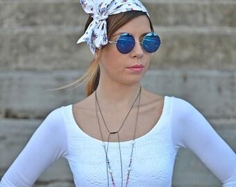 White Head Scarf, Hair Accessories, Gifts Womens, Turbans, Workout Head Scarf, Cartun Head Scarf, Heart Head Scarf, Cotton Head Wrap, 50s