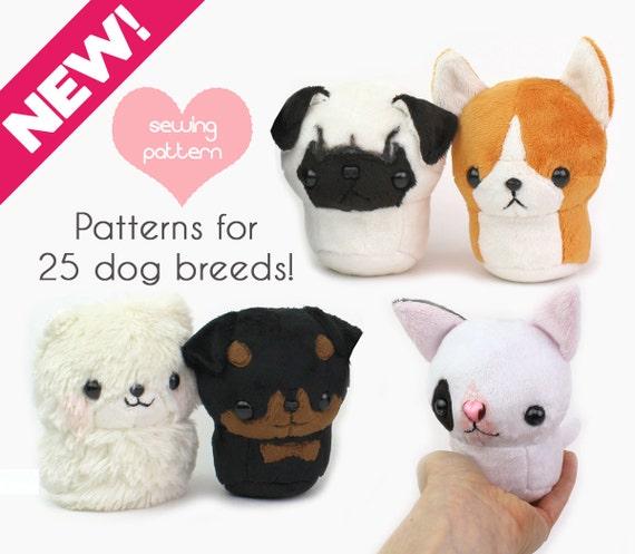 Pdf Sewing Pattern Teacup Puppy Dog Stuffed Animal Plush