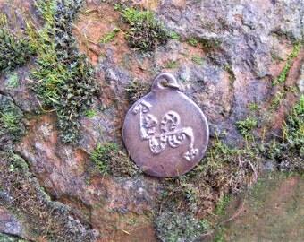 Scottish, Pictish Adder, Bronze Pendant, Adder, Snake, Viper, Spiritual, Totem, Amulet, Talisman, by the Green Man