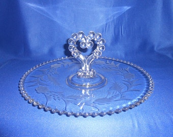 Imperial Candlewick Handled Pastry Tray