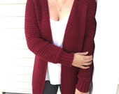 PATTERN Airport  Cardigan: Instant Download Crochet Cardigan Pattern, Simple Cardigan Pattern, Crochet Clothing, Women's Cardigan Size Large