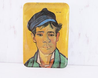 Vincent van Gogh: Young Man with a Cap Melamine Tray  6 x 4 decorative tray