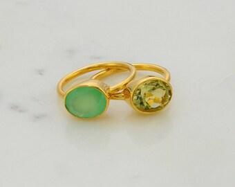 Lisa Eldridge Inspired - lisa eldridge rings - Gemstone Ring - Stackable Ring - Gold Ring - Oval Ring - Gemstone Ring - Bridesmaid ring