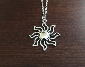 Sterling silver sun pendant necklace tiny necklace sun sun necklace sun silver sun necklace sun jewelry sun pendant silver mozeypictures Images