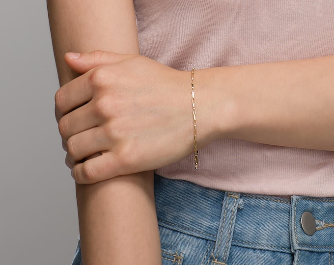Everyday Box Chain Bracelet // Bracelet gift for her