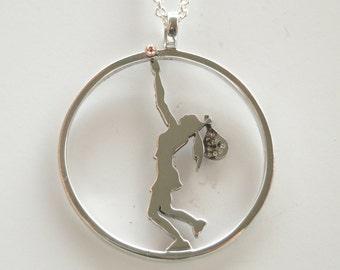 Silver paddle pendant
