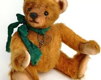 Artist bear, teddy bear Mishko, collectible teddy, teddy bear ooak, unique bear, collectible toy, bear handmade, traditional mohair bear