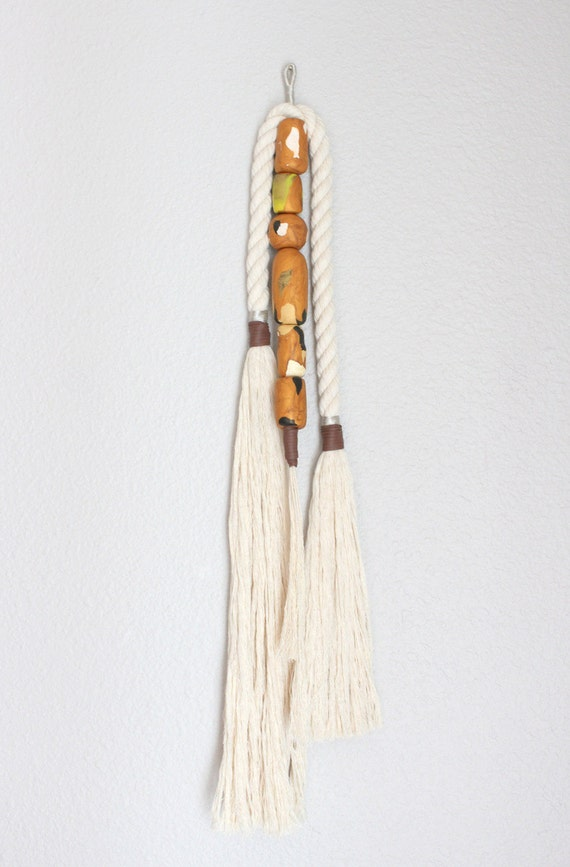 """Wall Hanging """"UNITED"""" cotton rope tassel, wall art, modern tassel, home decor, tassel art, modern macrame"""