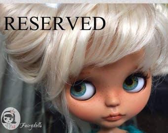 RESERVED OOAK Custom Blythe Doll, Handmade Doll