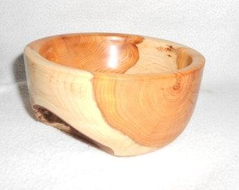 Yew Wood Natural Bowl