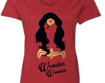Similar 2XL Wonder Woman V-Neck Women's T-shirt