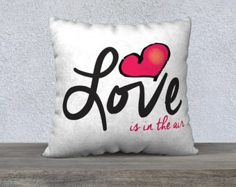 Pillow Case Love is in the air 22x22