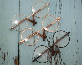 Blythe nerd Glasses Black silver Gold Metal colours