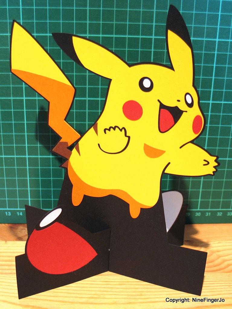 Pikachu 3D Greeting Card Pokemon Go Pop Up Card Pokemon – Birthday Pikachu Card