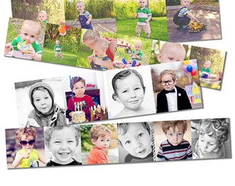 INSTANT DOWNLOAD - 3x3 Accordion Mini Template - Simple Drag & Drop design - holds maximum amount of photos - 10 photo spots - Easy to use