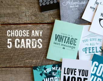 Bundle Pack, Choose Any 5 Styles - Bulk Greeting Cards