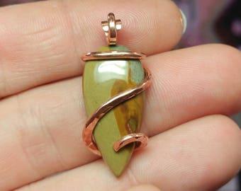 Picture Jasper Pendant | Owyhee Picture Jasper Pendant | Copper Pendant |  Picture Jasper Necklace | Oregon Picture Jasper Jewelry