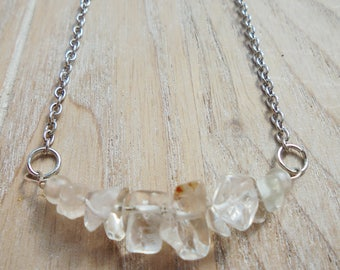 Minimalist Clear Quartz Necklace {ROUGH}