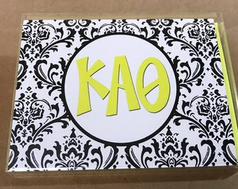 Kappa Alpha Theta Damask Notecards