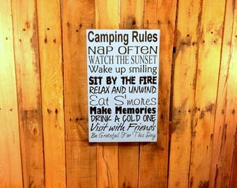 Camping Signs - Camping Gift - Camping Home Decor - Camping Decor - Camper Signs - Camper Decor - Signs For Campers - Signs For Cabins