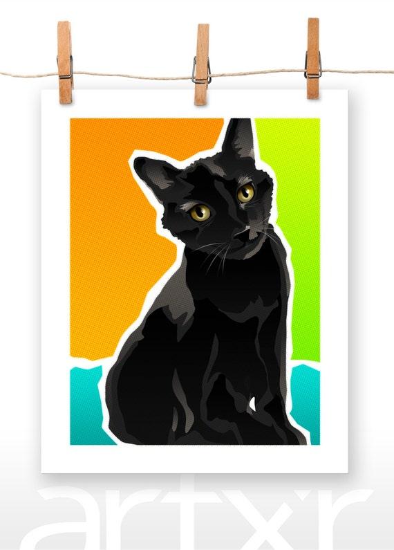 SALOM / The PET PROJECT / Domestic Shorthair / Fine Art Print / Various Sizes