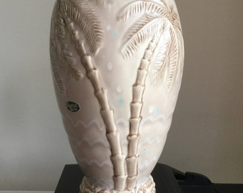 Stunning Tall Art Deco Beswick Ware Vase :Palm Tree